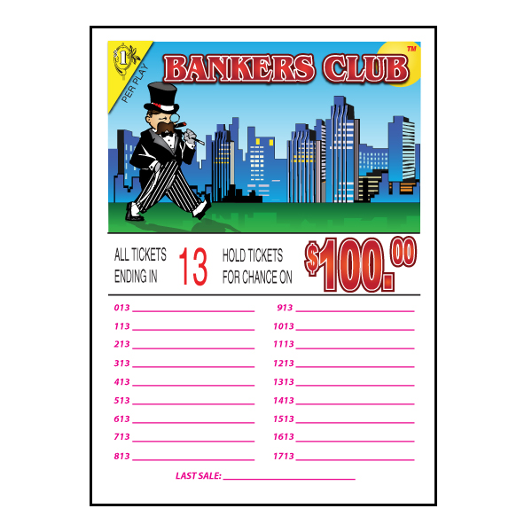 Bankers Club /J-13 Seal Card