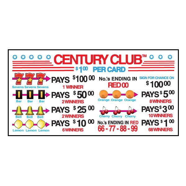 Century Club Card