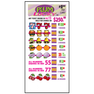 Plum Lucky / J-38 Card
