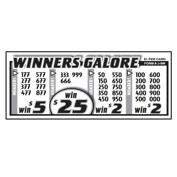 Winners Galore J-5W Card