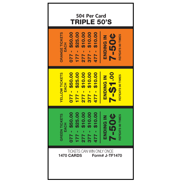 Triple 50's J-TF1470 Card