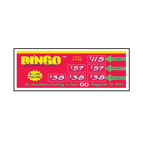 Bingo Real Deal / J-144 Card