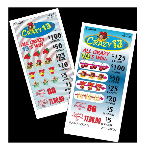 Crazy 13's / J-CR1680 J-CR2616 Cards