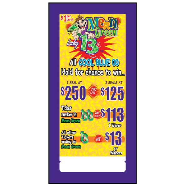 Mean Green Lucky 13 / J-MG744 Card