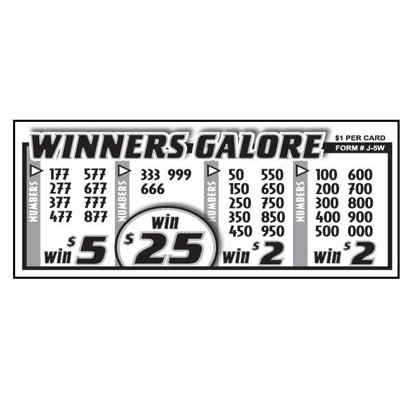 Winners Galore J-5W Card