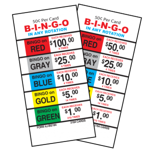 50 Cent Bingo / J-BI1764A / J-BI2184 CARD