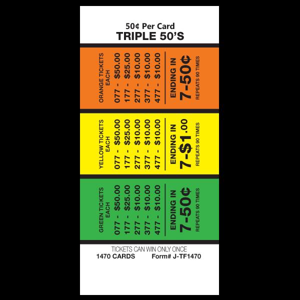 Triple 50's J-TF1470 Card